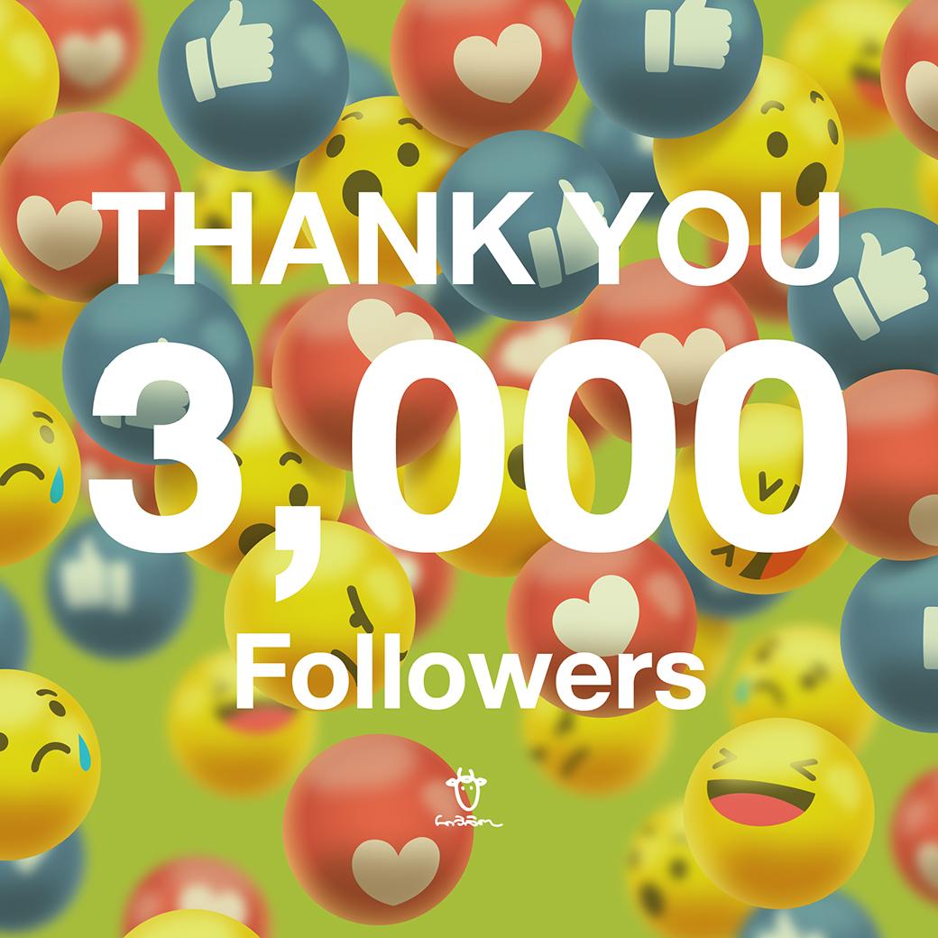 ฉลอง 3,000 Followers